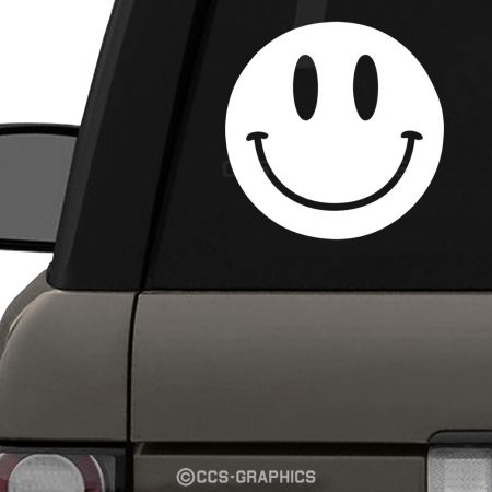 Smiley Face Decal on Range Rover