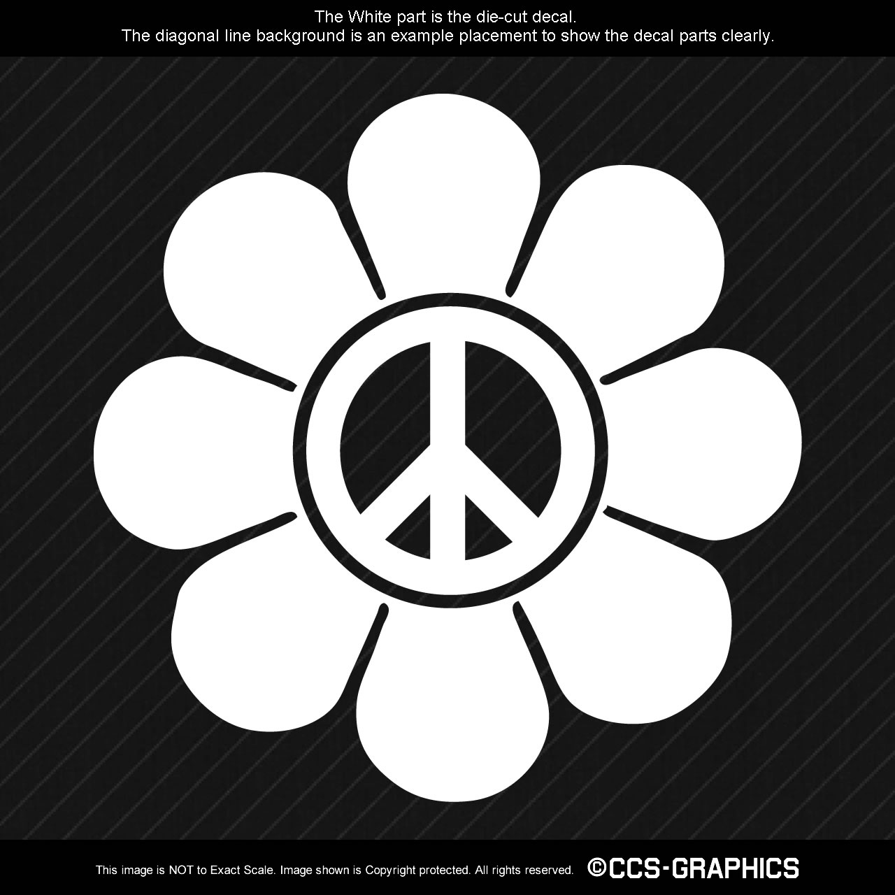 Peace Flower Decal