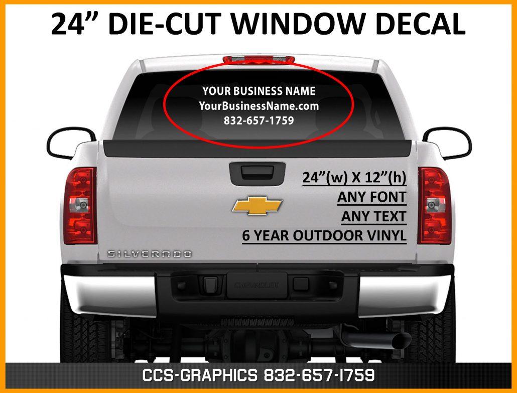 Truck Van or Car Back Window Vinyl Graphics
