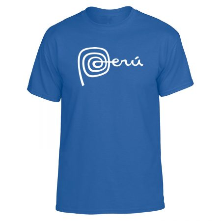 PERU MARCA Logo T Shirt - royal blue