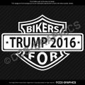 Bikers For Trump Decal