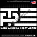 Trump Pence Logo Decals - 2016 2020