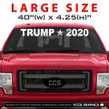 40 Inch WIDE TRUMP 2020 Decal - Front Truck Windshield