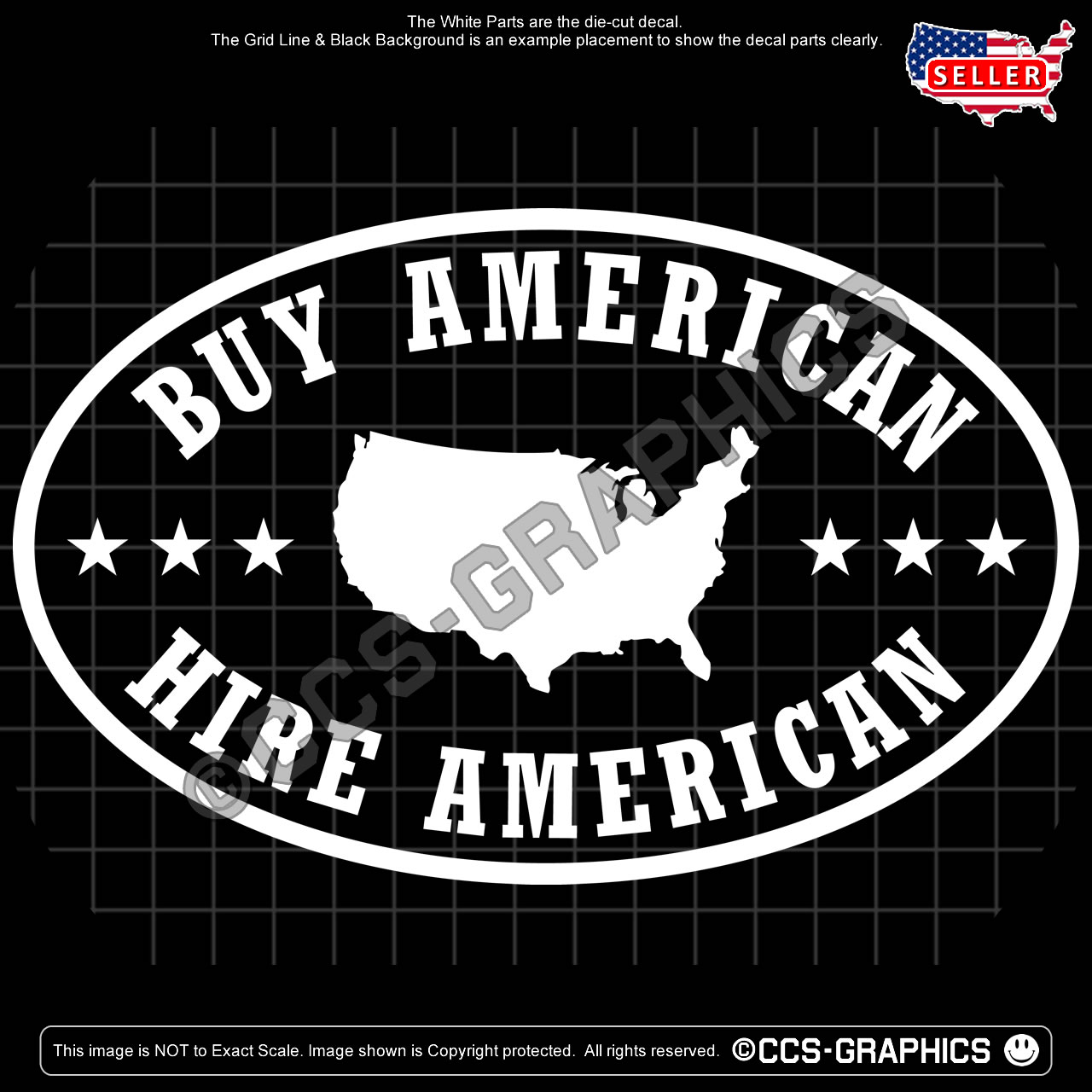 Buy american hire american decal 3 sizes free shipping maga ccs graphics