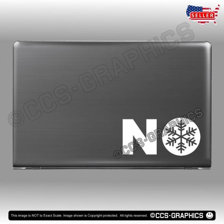 NO Snowflakes Decals - laptop