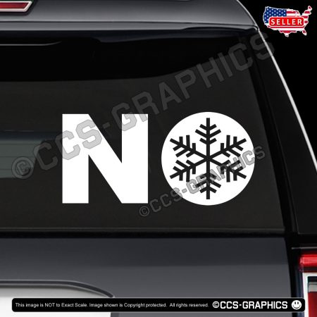 NO Snowflakes Decals - Yukon SUV